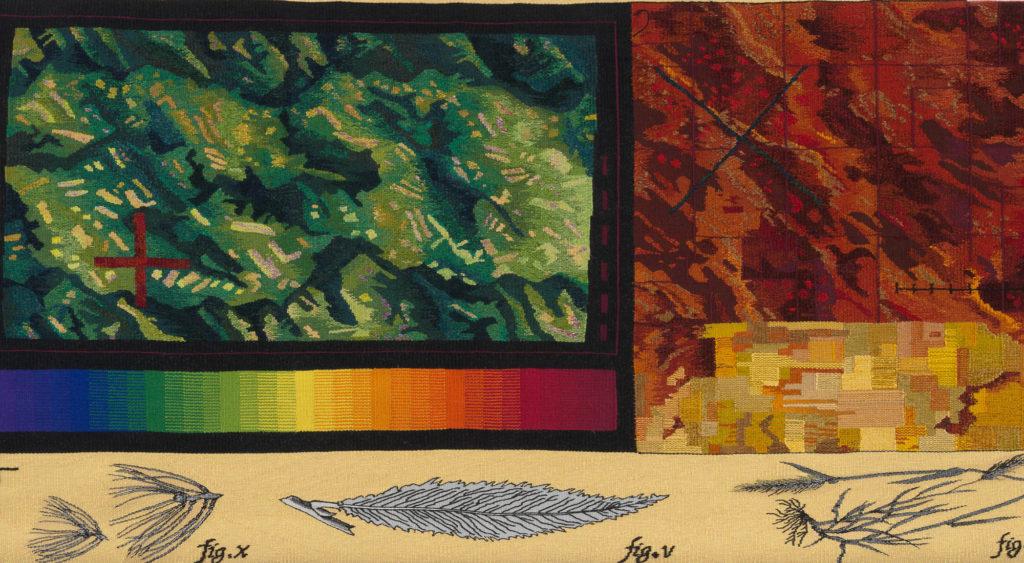 Jane Kidd tapestry: Land Sentence Series: Arbour (2009)