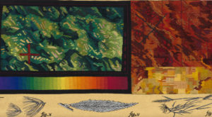 Jane Kidd tapestry: Land Sentence Series: Arbour (2009)