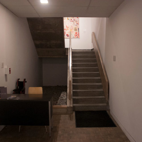 Views of interior Gallery stairs from ground and mezzanine floors