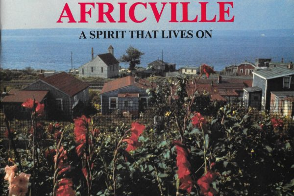 Africville: A Spirit that Lives On catalogue cover (1989). Photo by Ted Grant
