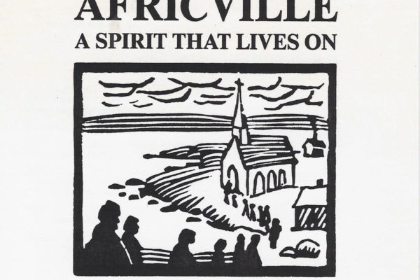 Africville: A Spirit that Lives On opening reception invitation card (1989).