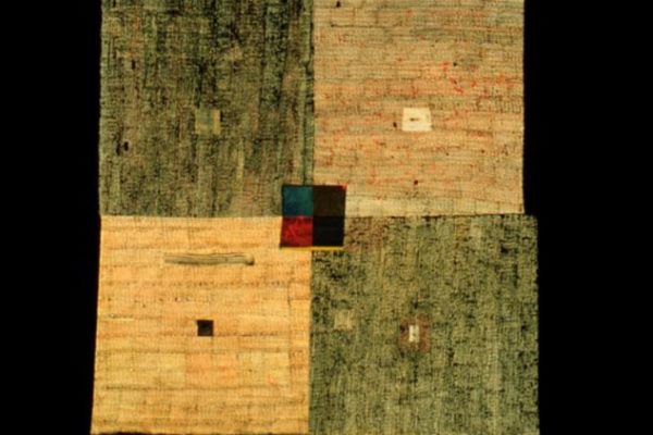 Dorothy Caldwell. Damp Earth. Quilted cotton. 135 x 173 cm (1996)