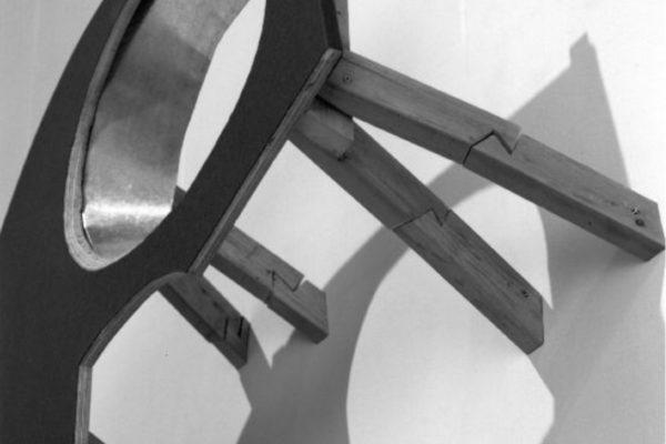 Elspeth Pratt. Lucky Me (detail). Wood, galvanized metal, felt, 104 x 41 x 166 cm. Photo- Richard-Max Tremblay (1992)