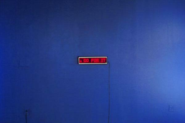 Michael Fernandes. Ghost, L.E.D. sign, variable size (1997)