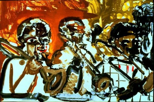 Romare Bearden. Brass Section. Lithograph, 60.96 x 84.45 cm (1979)