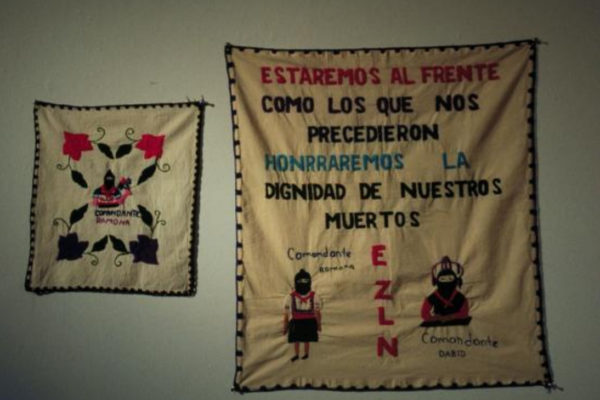 Women of Chiapas, Mexico. Various embroideries in coloured yarns on cotton (1995-1996)