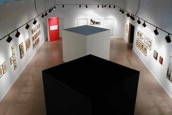 Adrian Piper- A Retrospective 1965-2000. Installation view, MSVU Art Gallery (2000)