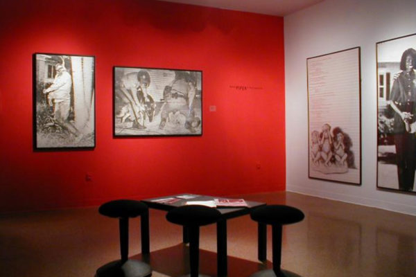 Adrian Piper- A Retrospective 1965-2000. Partial installation view 2, MSVU Art Gallery (2000)