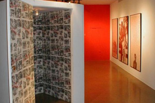 Adrian Piper- A Retrospective 1965-2000. Partial installation view, MSVU Art Gallery (2000)