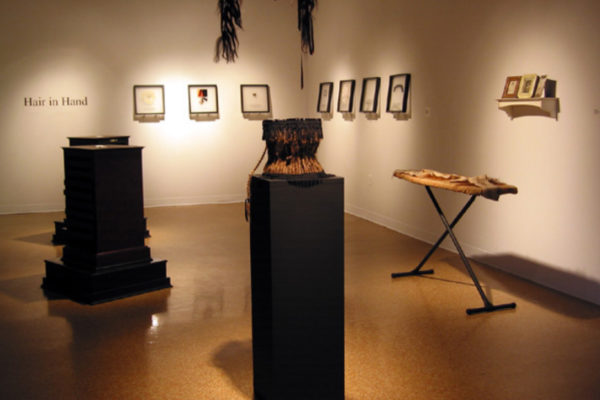 Andrea Ward & whitefeather. Hair in Hand, installation view (2003)