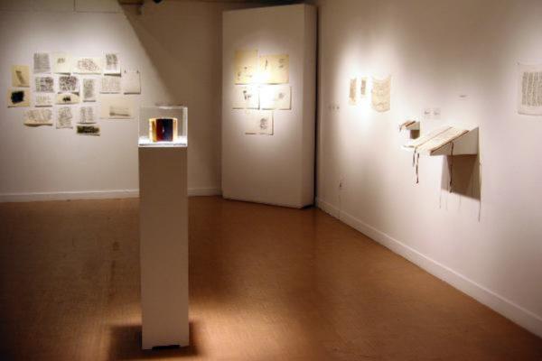 Beyond Words. Installation view (under mezzanine), MSVU Art Gallery (2003)