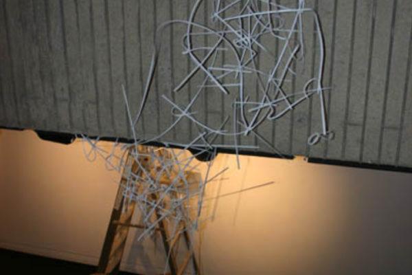 David Dahms working in the main space of MSVU Art Gallery - Photo- Stefan Hancherow (2009)