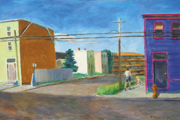 Doug Taylor, Agricola and Roberts - oil on canvas, 60.96 x 91.44 cm (1996)