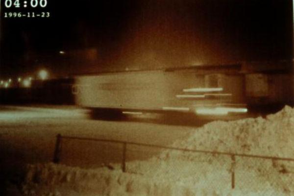Ellen Moffat. Line Break (detail). Colour photographs with text (1996)