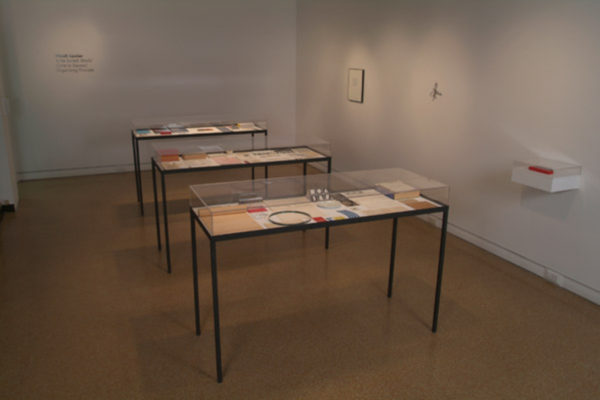 Installation View- Micah Lexier- To Be Sorted, MSVU Art Gallery Photo #1- Steve Farmer (2006)