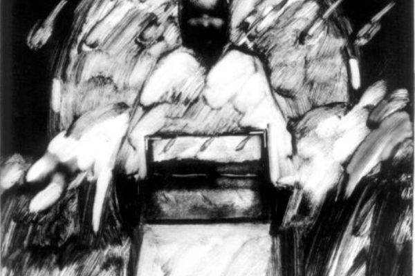 James Shirley. Self-Portrait II 1976. Monotype. plate- 43 x 35.7 cm (1976)