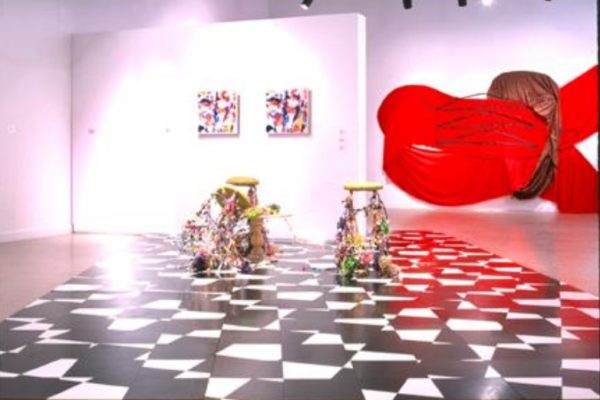 Janice Gurney, Mary Scott, Arlene Stamp. Blind Stairs. Installation view #2, MSVU Art Gallery (2003)