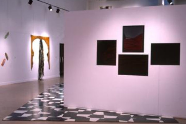 Janice Gurney, Mary Scott, Arlene Stamp. Blind Stairs. Installation view #3, MSVU Art Gallery (2003)