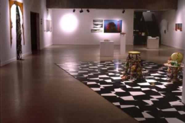 Janice Gurney, Mary Scott, Arlene Stamp. Blind Stairs. Installation view, MSVU Art Gallery (2003)