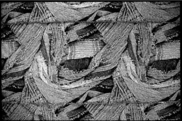 Junichi Arai. Nuno (detail). Jacquard woven digital images, 406 x 437 cm (1983)