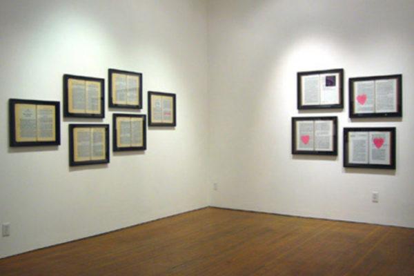 Kyla Mallett Installation view, The Montreal Massacre Artspeak, Vancouver (2004))