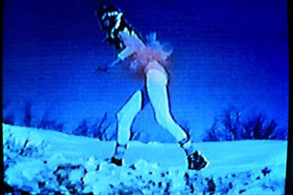 Lisa Baldissera. Snow. VHS video still (1997)