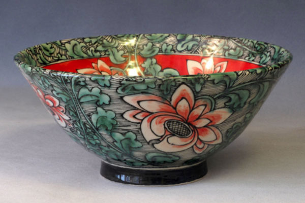 Lucky Rabbit Chinese-style Bowl, Red Flowers (2010)