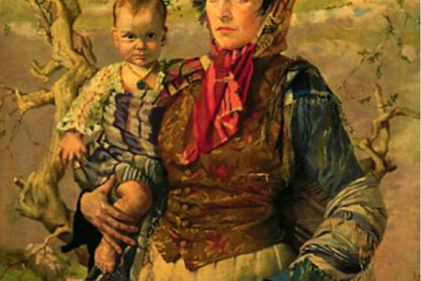 Margaret Clarke. Mary and Brigid 1917. Oil on canvas. 107 x 83 cm. MSVU collection. Gift of John Shelly (1967)
