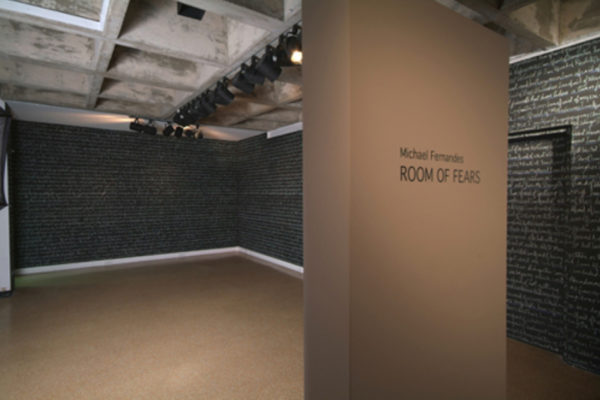 Michael Fernandes Room of Fears Installation (detail). MSVU Art Gallery. Photo #1- Steve Farmer