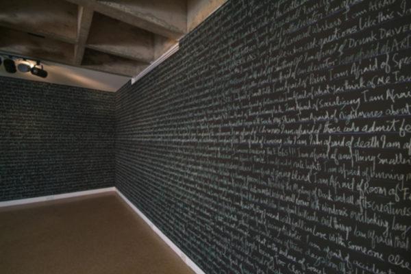 Michael Fernandes Room of Fears Installation (detail). MSVU Art Gallery. Photo #2- Steve Farmer