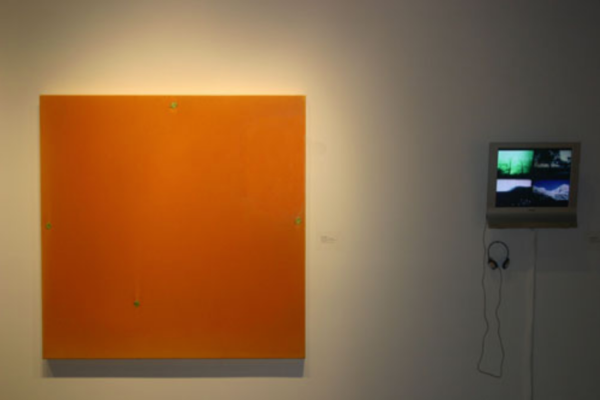 Pulse- Film and Painting After the Image Installation View #5 MSVU Art Gallery (2006)