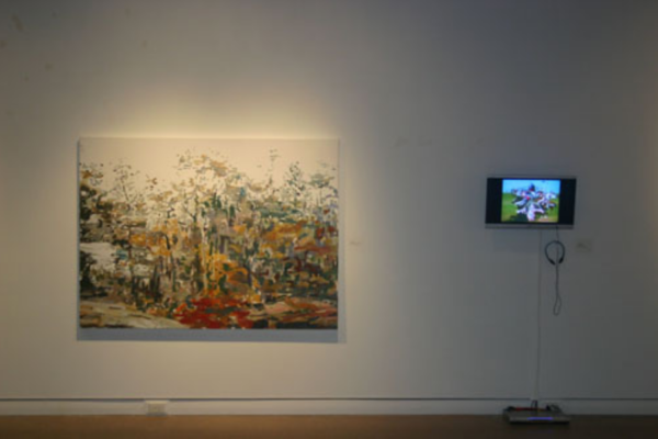 Pulse- Film and Painting After the Image Installation View #8 MSVU Art Gallery (2006)