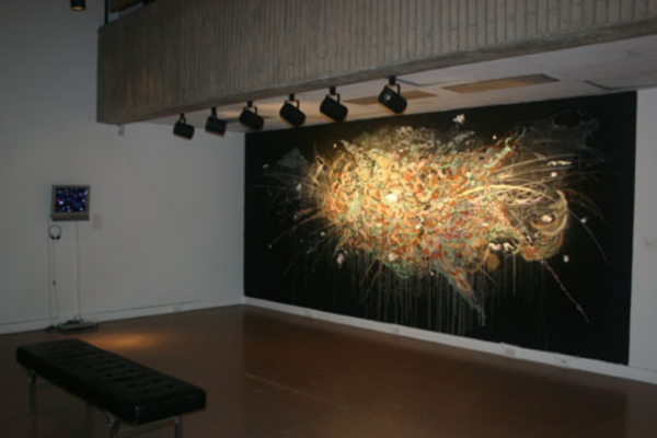 Pulse- Film and Painting After the Image Installation View MSVU Art Gallery #6 (2006)