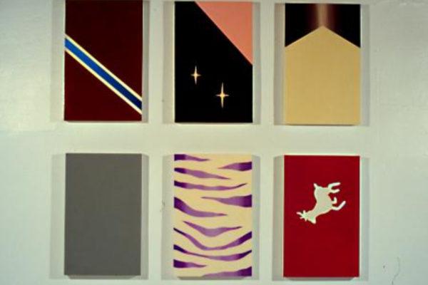 Rachel Beach. Allow (detail). Acrylic and enamel on 18 panels (1998)