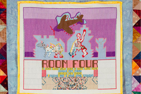 Richard Boulet, Room Four (detail) Fabric appliqué and cross-stitch (2013)