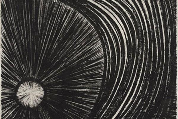Ron Shuebrook Radiance Series (Disc & Veil) 2011 charcoal on rag paper 76 x 57 cm (2011)
