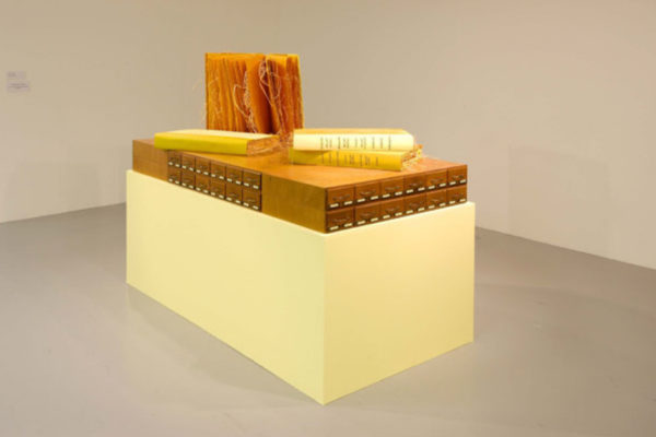 Sarindar Dhaliwal, The Book of Yellow 2003, mixed media installation, Collection of the artist (2003)