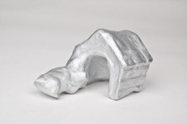 Suzanne Caines Untitled souvenir 2008 (unique sculptures presented to interlocutors) cast plaster with spray paint, maximum dimension 14 cm #3 (2008)