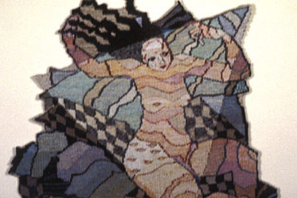 Suzanne Swannie Cosmic Woman (detail) 1980-1981 linen, cotton, silk, gold tapestry diptych (1981)