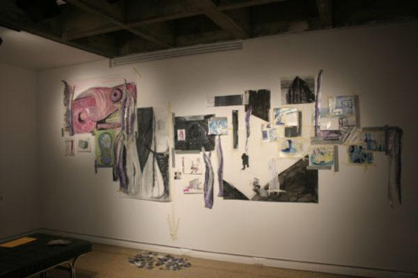 The Encounter, drawings installation in progress #2 (2008)