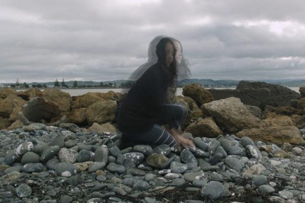 asinnajaq, Rock Piece (Ahuriri Edition), 2018. Video still.