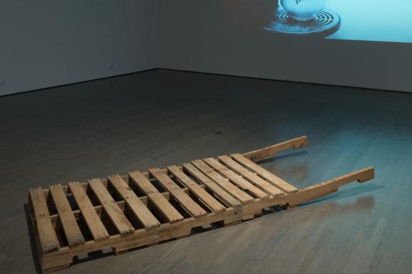 Couzyn van Heuvelen, Qamutiik, 2014.  Installation view at Leonard & Bina Ellen Art Gallery, 2019.