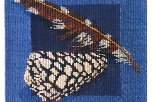 Barbara Heller, Shell and Feather. Tapestry Weaving.